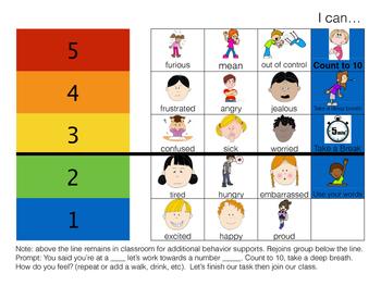 Behavior Management Emotions Check-in Chart