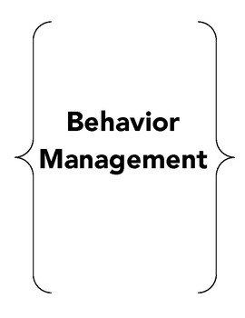 Behavior Management File
