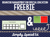 Behavior Management First/ Then and Token Board FREEBIE for Special Education