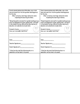 Behavior Management Guided Reading
