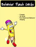Behavior Management Hole Punch Cards