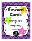 Behavior Management Incentives Reward Cards
