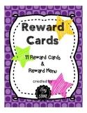 Behavior Management Incentives Reward Cards