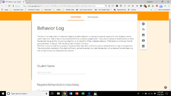 Behavior Management Journal with QR Code