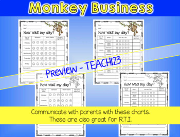 Behavior Management Jungle Monkey theme
