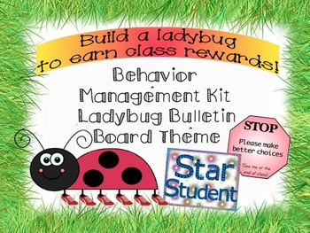 Behavior Management Kit with a Ladybug Bulletin Board Theme