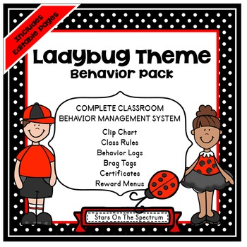 Clip Chart ★ Behavior Management ★ Ladybug Theme Behavior Management System