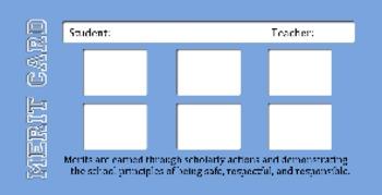 Behavior Management: Merit / Demerit Card System