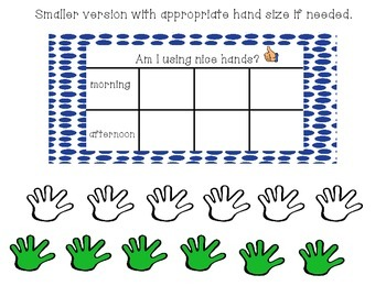 "Behavior Management ""Nice Hands"" Chart"