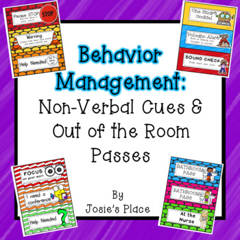 Behavior Management: Non-Verbal Cues and Out of the Class Passes