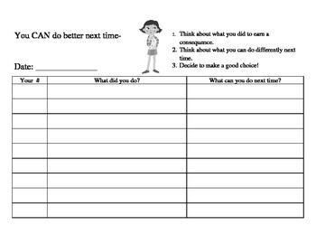 Behavior Management Notebook Pages