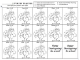 Behavior Management November -- Turkey Tracker
