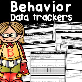 Behavior Management Observation Data Trackers