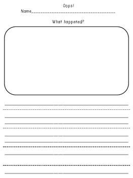 """Behavior Management- """"Oops"""" Sheet"""