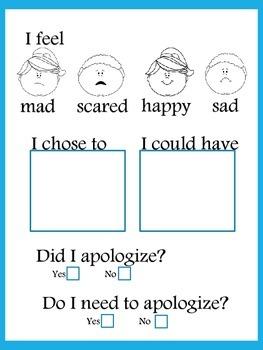 Behavior Management Pack - Reflection Sheets, Rewards, and Parent Contact Sheet