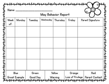 Behavior Management Packet