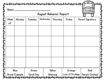 Behavior Management Packet (Carnival Theme)