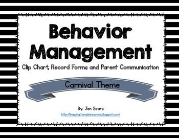 Behavior Management Packet (Carnival Theme)