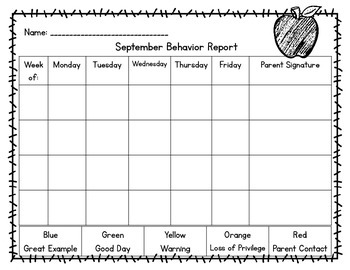Behavior Management Packet (Nautical Theme)