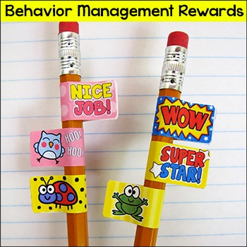 Rewards - Behavior Management Pencil Stickers with Motivational Sayings