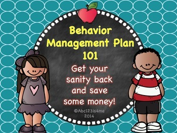 Behavior Management Plan 101- Award Coupons Included!