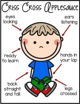behavior management posters criss cross applesauce and ready to learn rh teacherspayteachers com Criss Cross Clip Art Indian Sitting Criss Cross