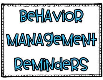 Behavior Management Posters for Staff