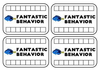 Behavior Management Punch Cards