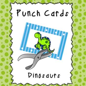 Behavior Management Punch Cards- Dinosaurs