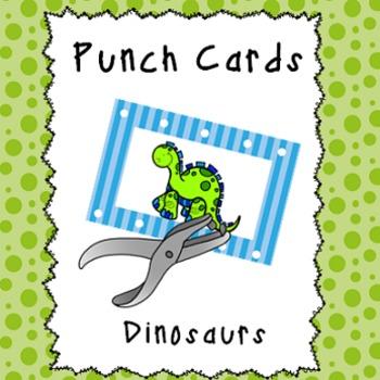 Behavior Management Punch Cards- Dinosaurs