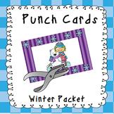 Behavior Management Punch Cards- Winter