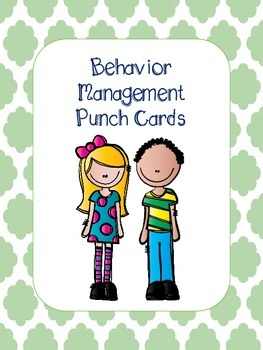 Behavior Management Punch Cards + more!