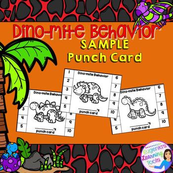 Behavior Management - Punch card sample