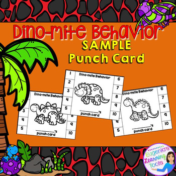 Behavior Management - Punch card sample