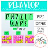 Behavior Management [Puzzle War] PBIS {editable}