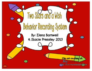 Behavior Management Recording System