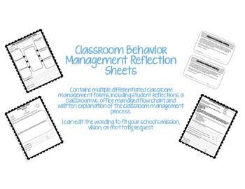 Behavior Management Reflection Forms