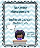 Behavior Management- Refocus Cards