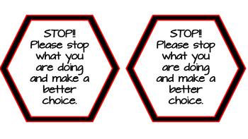Behavior Management Reminder Cards