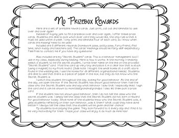 Behavior Management & Reward Cards