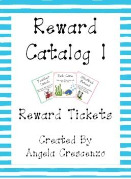 Behavior Management Reward Catalog I Reward Tickets