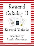 Behavior Management Reward Catalog II Reward Tickets