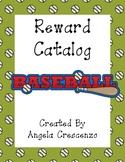 Behavior Management Reward Catalog & Punch Cards Baseball Theme