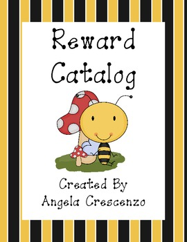 Behavior Management Reward Catalog & Punch Cards Bee Theme