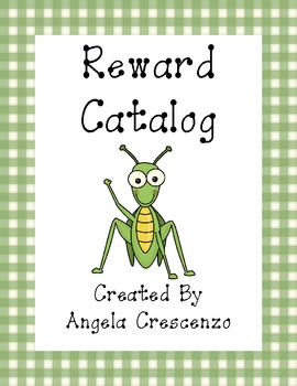 Behavior Management Reward Catalog & Punch Cards Bug Theme