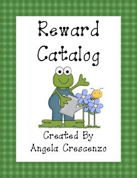 Behavior Management Reward Catalog & Punch Cards Garden Frog Theme