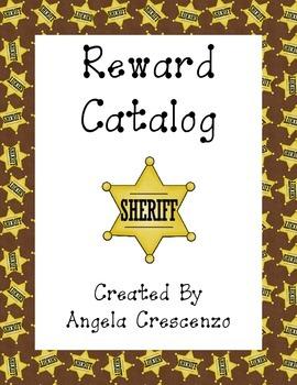 Behavior Management Reward Catalog & Punch Cards Western Theme
