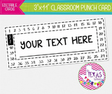 Behavior Management - Reward Punch Card {EDITABLE}