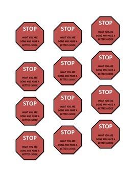 Behavior Management STOP Printable