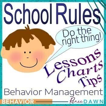 Behavior Management Guide - School Rules - Charts - Behavior Management BUNDLE